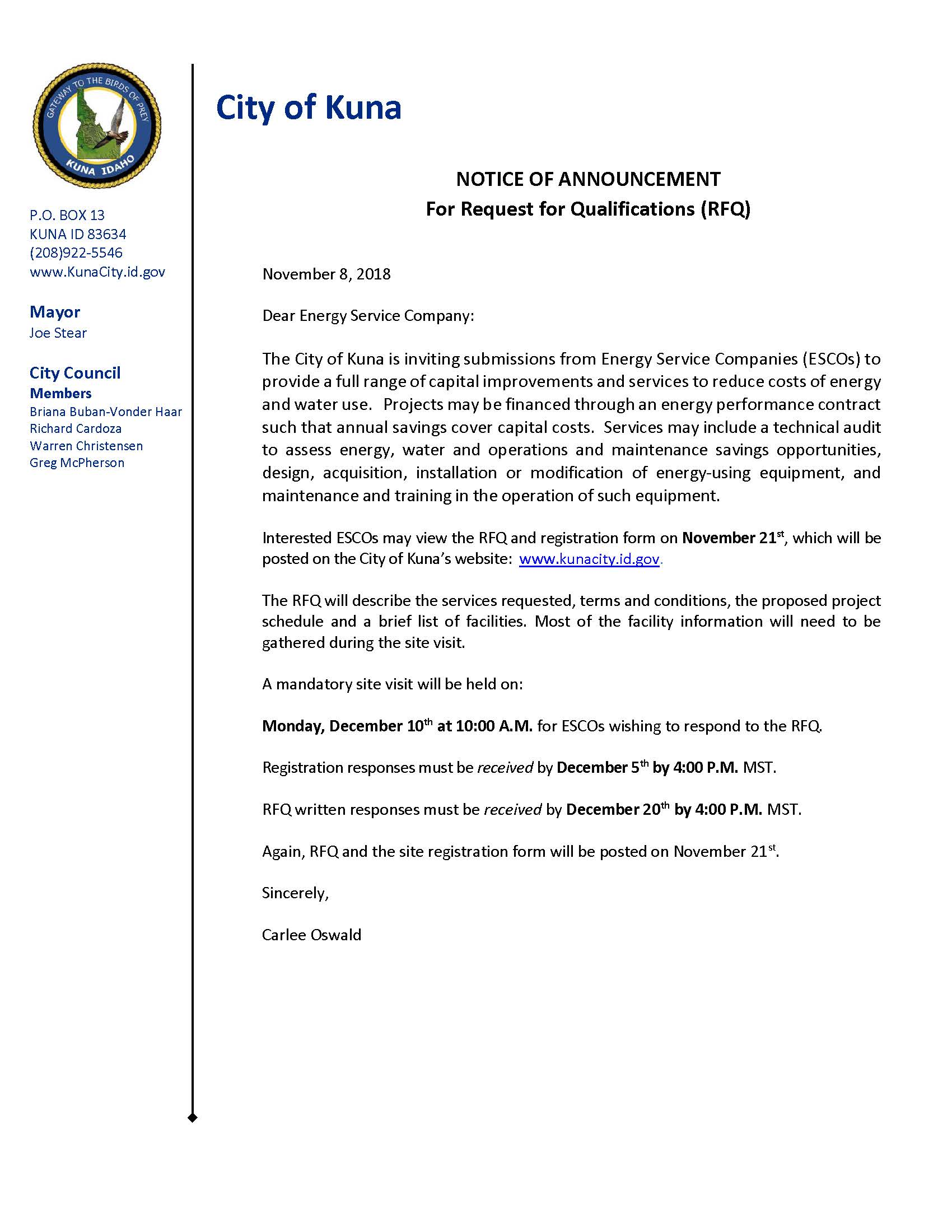 Notice of Announcement - RFQ Energy Service Companies.jpg