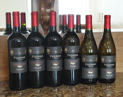 Bottles of wine at Vizcaya Winery