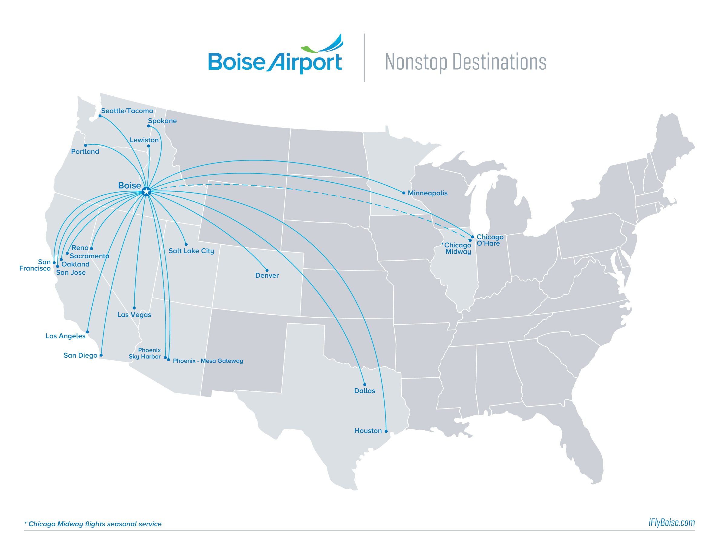 Boise Airport Map Kuna ID Official